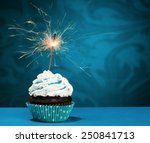 Birthday Cupcake With A...
