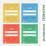set of different colors login...