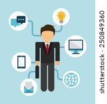 businessman design  vector... | Shutterstock .eps vector #250849360