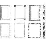 set of decorative grey frames | Shutterstock .eps vector #250852654