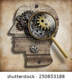 brain gears and cogs. mental... | Shutterstock . vector #250853188