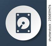 Hard Disk Icon. Vector...