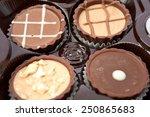 dark chocolate on a white... | Shutterstock . vector #250865683