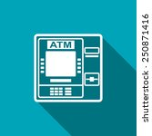 icon of atm | Shutterstock .eps vector #250871416