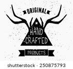 trendy product label design in... | Shutterstock .eps vector #250875793
