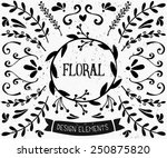 a set of vintage style floral... | Shutterstock .eps vector #250875820
