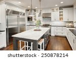 Small photo of kitchen interior in new luxury home