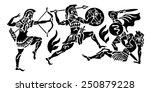 the greek soldier background | Shutterstock .eps vector #250879228