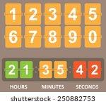 countdown timer | Shutterstock .eps vector #250882753