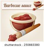 barbecue sauce. detailed vector ... | Shutterstock .eps vector #250883380