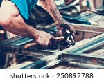 closeup image of dirty worker... | Shutterstock . vector #250892788