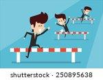 business race  | Shutterstock .eps vector #250895638