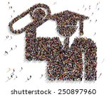 large group of people seen from ... | Shutterstock . vector #250897960