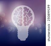 lightbulb icon on blurred...   Shutterstock .eps vector #250899199