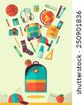 vector school workspace... | Shutterstock .eps vector #250901836