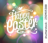 Happy Easter Vector Card With...