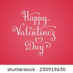 template for happy valentine's... | Shutterstock .eps vector #250919650