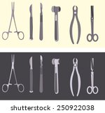 medical icons   set of surgical ... | Shutterstock .eps vector #250922038