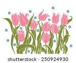 vintage style decorative... | Shutterstock .eps vector #250924930