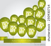 green balloons with sale... | Shutterstock .eps vector #250930714