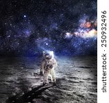 Astronaut On The Moon  ...