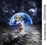 Astronaut On The Moon  ...