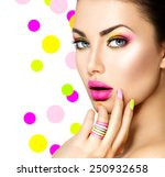 beauty girl portrait with... | Shutterstock . vector #250932658
