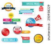 set of sale design elements.... | Shutterstock .eps vector #250938229