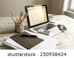 analyzing graphics with... | Shutterstock . vector #250938424