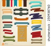 new vector set of ribbon retro... | Shutterstock .eps vector #250938760
