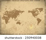 world map in vintage pattern... | Shutterstock .eps vector #250940038