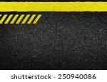 danger arrows on asphalt...   Shutterstock .eps vector #250940086