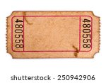 old ticket   torn blank movie... | Shutterstock . vector #250942906
