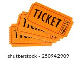 ticket   group of three orange... | Shutterstock . vector #250942909