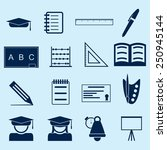education icons | Shutterstock .eps vector #250945144