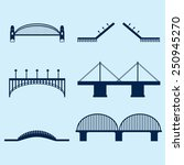 bridge icons | Shutterstock .eps vector #250945270