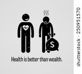 health is better than wealth | Shutterstock .eps vector #250951570