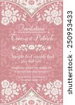 antique baroque invitation... | Shutterstock .eps vector #250953433
