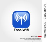 free wifi icon with white... | Shutterstock .eps vector #250958464