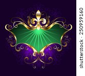 green mardi gras banner with... | Shutterstock .eps vector #250959160