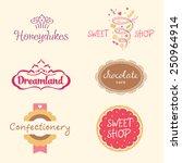 set of logo templates for... | Shutterstock .eps vector #250964914