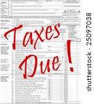 income tax concept | Shutterstock . vector #25097038