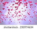 heart shaped balloons or hearts ... | Shutterstock . vector #250974634