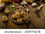 cheese mini buns from home... | Shutterstock . vector #250975678