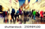 commuter people rush hour busy... | Shutterstock . vector #250989100