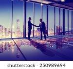 business people hand shake... | Shutterstock . vector #250989694