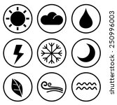 design style weather icons... | Shutterstock .eps vector #250996003