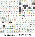 logo mega collection  abstract... | Shutterstock .eps vector #250996960