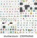 logo mega collection  abstract... | Shutterstock .eps vector #250996960