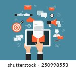 business email marketing... | Shutterstock .eps vector #250998553